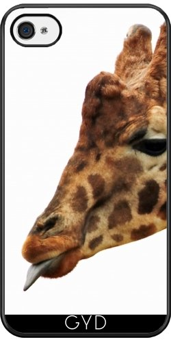 Coque Silicone pour Iphone 4/4S - Girafe Faune Afrique Enfants by WonderfulDreamPicture