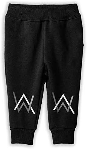 Alan Walker Logo ロングパンツ スウェットパンツ 男の子 女の子 子供 日常 通学 カジュアル 吸水速乾 弾性 通気性 耐久 春秋 肌触りよく ソフト 下着 入学式