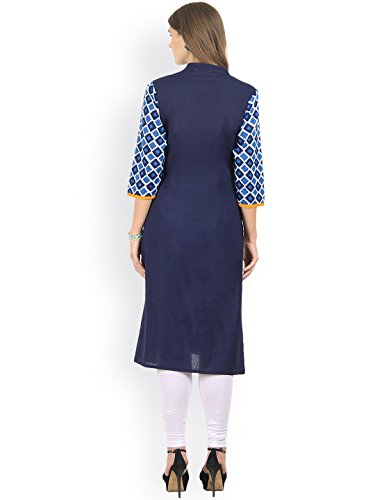 Rêve Des Femmes De La Mode Ange Robe Imprimé Bleu Kurti Kurta Droite