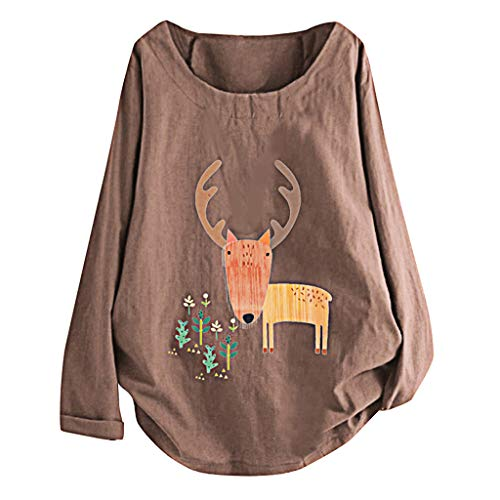 Tampon Pad Halloween Costumes - Londony❀♪ Women's Long Sleeve Cotton Linen