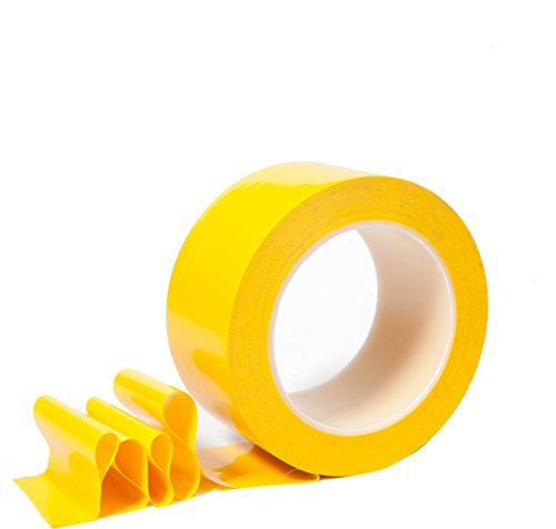Floor Tape for marking Factories, Warehouses, Workshops, Parking & Public Areas with Aggressive Adhesive & Flexible Backing, Yellow 2