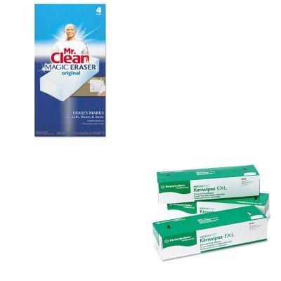 KITKIM34256CTPAG82027 - Value Kit - KIMBERLY CLARK KIMTECH SCIENCE KIMWIPES (KIM34256CT) and Mr. Clean Magic Eraser Foam Pad (PAG82027) by Kimberly-Clark