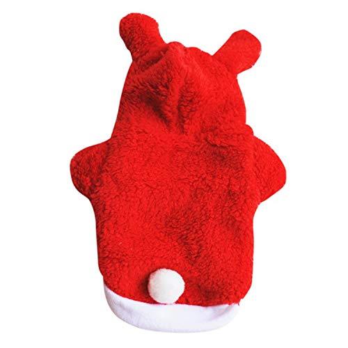 Pet Dog Velvet Coat Costume Autumn Winter Warm Dog Clothes Small Dog Coat Cats Pet Supplies Red L]()