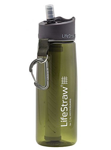 Lifestraw Water Bottle with 2 Stage Filtration (Green)