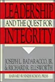 img - for Leadership and the Quest for Integrity book / textbook / text book