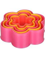 طقم قطاعات بلاستيك للبسكويت على شكل ورود من كيتشن سابليز، 5 قطع - متعدد الالوان