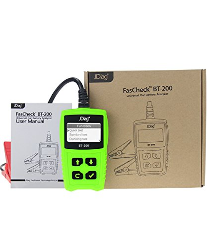 JDiag FasCheck BT-200 Professional Car Load Battery Tester 12V 100-2000 CCA 220AH Digital Battery Analyzer Bad Cell Test Tool for Automotive/Truck/Motorbike Etc(Green) by JDiag (Image #7)