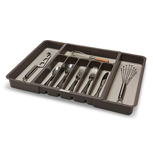 Made Smart Kitchen Drawer Organizer Expandable Total 8-Compartments Cutlery Tray in Brown by Made Smart (Image #2)