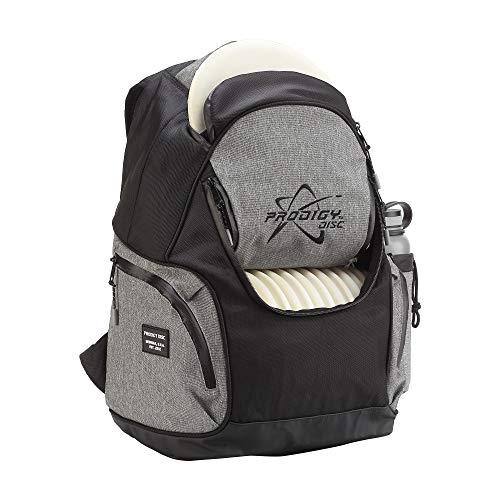 Prodigy Disc BP-3 V2 Disc Golf Backpack - Fits 17 Discs - Beginner Friendly, Affordable (Black/Heather Gray) (Best Disc Golf Backpack)