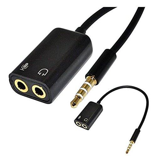 Hilai 3.5 mm 1/8auricolari + Micró fono Adaptador para Esté reo Audio Macho PC iPhone
