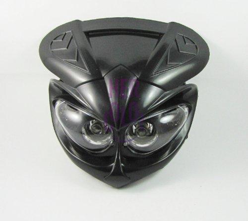 Head Light fairing motorcycle dual sport lamp street fighter black