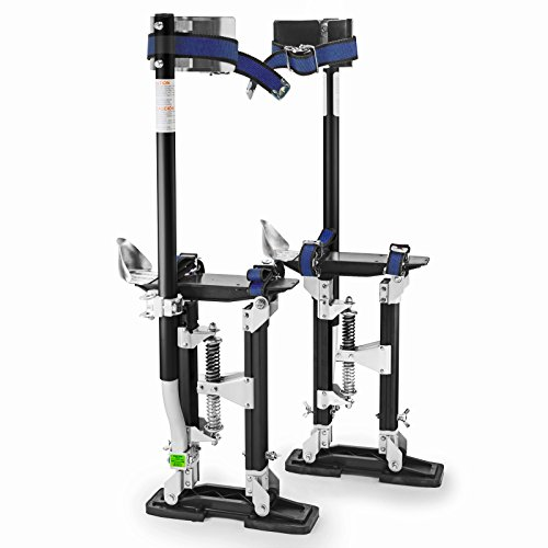 "GypTool Pro 18"" - 30"" Drywall Stilts - Black"