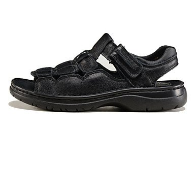 Sandalias Hombre De Ternero Cabello Piscina Negromarrón Zapatos 7qI5w1x5d