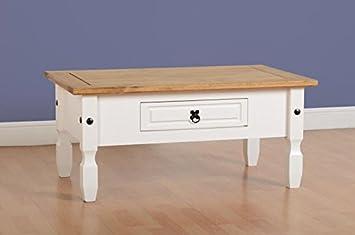 Miraculous Amazon Com Pn Homewares White Corona Coffee Table Rustic Bralicious Painted Fabric Chair Ideas Braliciousco