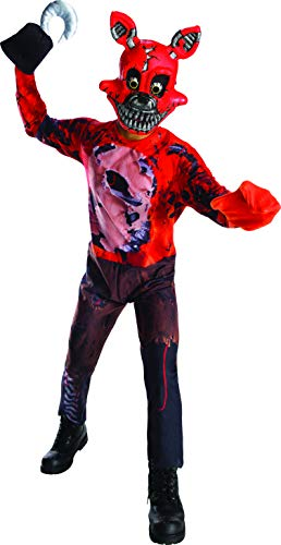 Rubie's Costume Boys Five Nights at Freddy's Nightmare Foxy The Pirate Costume, Large, ()