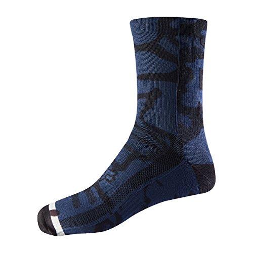 Fox Racing Print Trail 8in Sock Navy/Grey, S/M - Men's
