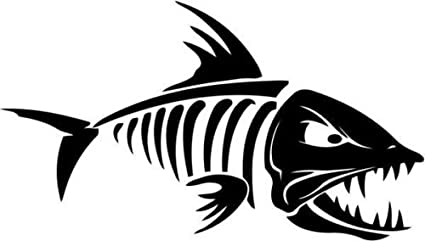 71d0be1f3bcdc9 Fish Bone Skeleton Bait Fishing Sportsman Car Truck Windows Decor Decal  Sticker - Die cut vinyl