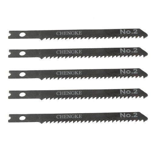 DealMux 5 Pcs 3.5 Long Jigsaw Blades w Hole for Electric Pow