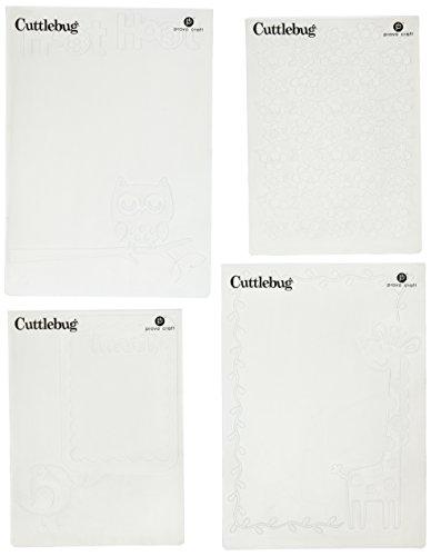 (Cuttlebug Provo Craft Cricut Companion Embossing Folder Bundle, Create A Critter)