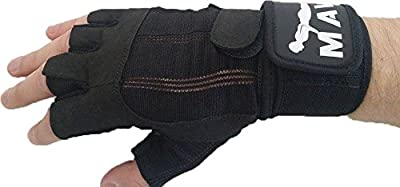 Weight lifting Gloves with Wrist Support for Fitness, Cross Training & Gym Workout - Silicone Padding to avoid Calluses, Suits both Men & Women - Best Weight Lifting Gloves for a Strong Grip