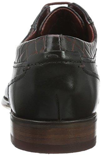 Bugatti 312128061000, Zapatos de Cordones Derby para Hombre Schwarz (schwarz 1000)