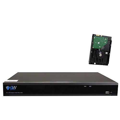 GW 8 Channel Hybrid 5-in-1 5MP DVR (TVI+CVI+AHD+960H Analog +IP) H.265 CCTV 8CH Standalone dvr Quick QR Code Scan w/Easy Remote View for 1920P/1080P Home Security Surveillance Camera System (1TB HDD)
