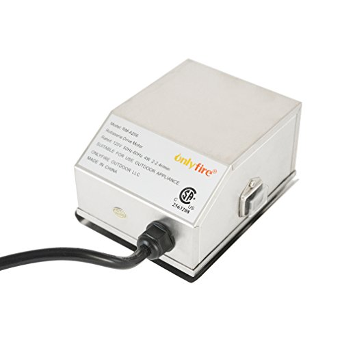 - Onlyfire Universal Grill Electric Replacement Stainless Steel Rotisserie Motor 110 Volt On/Off Switch- 50 lb. Load,