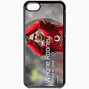 Personalized iPhone 5C Cell phone Case/Cover Skin Rooney The FA Wayne Rooney Manchester United Football Black