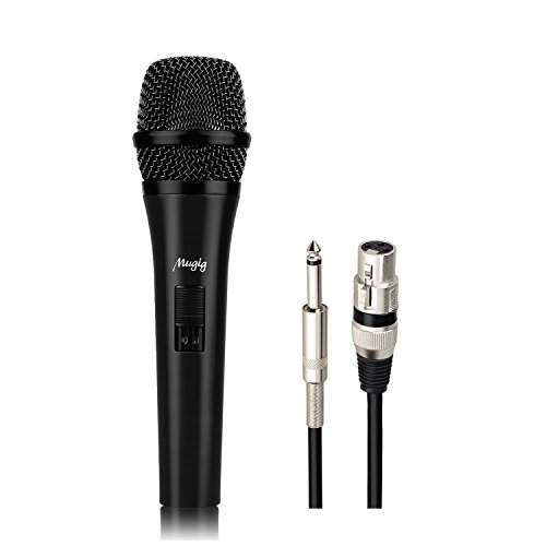 Mugig Vocal Dynamic Microphone Suitable for Podcasting and Karaoke with XLR Male to 1/4 Female Cable