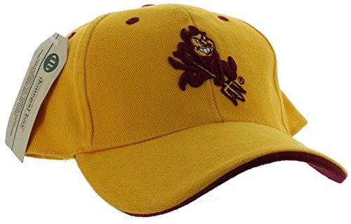 New! Arizona State Sun Devils Adjustable Back Hat Embroidered Cap -Yellow - - Devils Cap Sun State Arizona