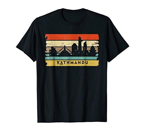 Vintage Kathmandu shirt. Nepalese Himalayas Nepal flag tee -