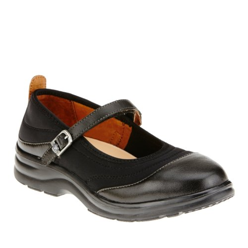 Dr. Comfort Flute Mary Jane Shoes, Black Lycra, 11 M/A-B