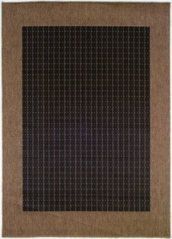 Couristan 1005/2000 Recife Checkered Field Black/Cocoa Rug, 5-Feet 3-Inch by 7-Feet 6-Inch by Couristan