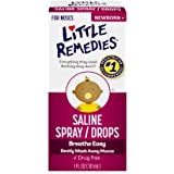 Little Remedies Noses Saline Spray/Drops, 1.0 FL OZ- Gently Wash Away Mucus for Ages Newborn and Up (pack of 2)