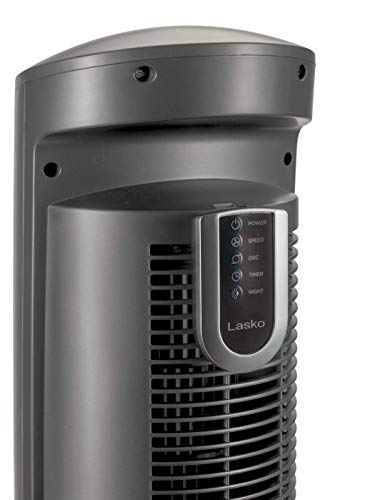 Lasko T42951 Wind Curve Portable Electric Oscillating Stand Up Tower Fan with Remote Control for Indoor, Bedroom and Home Office Use