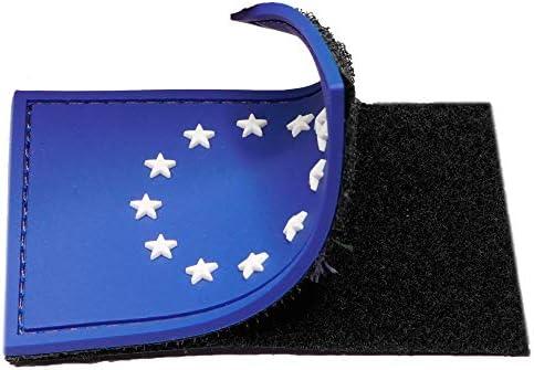 Parche velcro Bandera de Europa con Estrellas en 3D & Fluorescentes - Glow in the Dark - Parche Ropa - Parches mochila - Parches militares - 75 x 50 mm: Amazon.es: Hogar