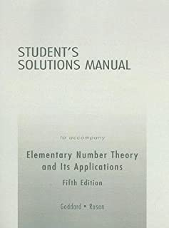 elementary number theory 5th edition kenneth h rosen rh amazon com  elementary number theory burton 6th edition solutions manual pdf