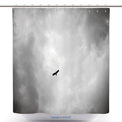 Fun Shower Curtains Heron In Rain Cloud 318210452 Polyester Bathroom Shower Curtain Set With (Little Black Rain Cloud Costume)