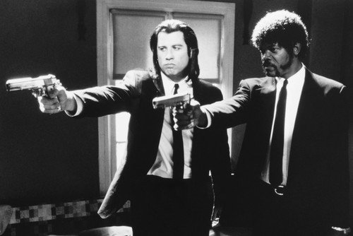 Samuel L  Jackson And John Travolta In Pulp Fiction 24X36 Poster