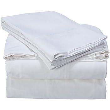 Cozy Earth Bamboo Sheets.Cozy Earth Premium 100 Bamboo Sheets Cooling Sheets Moisture Wicking Softer Than Cotton Deep Pockets 4 Piece Bed Sheet Set Split King White