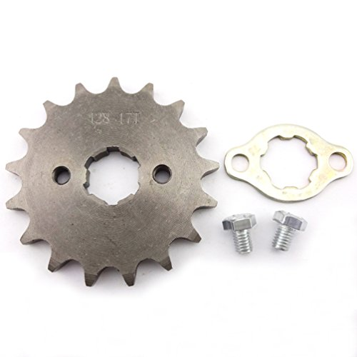 XLJOY 428 17 Tooth 20mm Front Engine Sprocket for 50cc 70cc 90cc 110cc 125cc 140cc 150cc 160cc SSR Apollo Dirt Bike ATV Quad