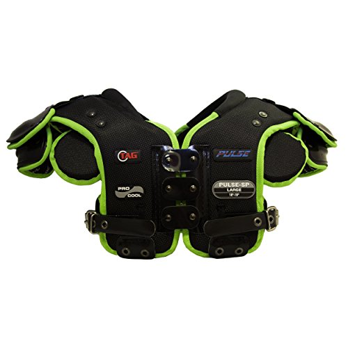TAG PULSE-SP Skill Position Football Shoulder Pad for Quarterback, Wide Receiver, Defensive Back, Corner, Safety (Medium)