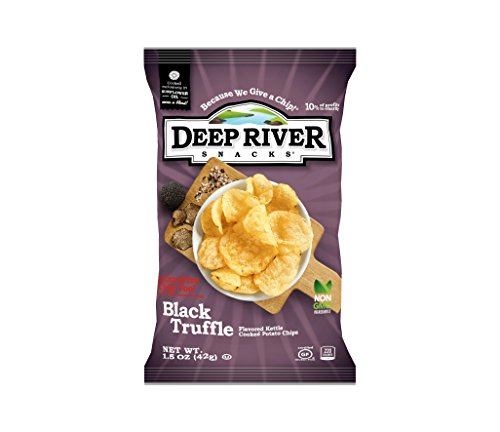 Deep River Snacks Black Truffle Kettle Cooked Potato Chips, 1.5-Ounce (Pack of 24)
