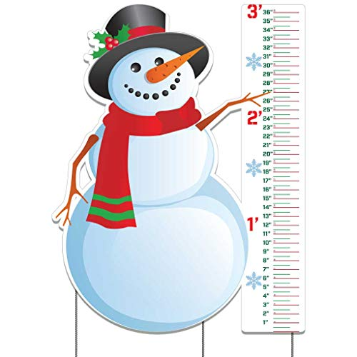 VictoryStore Snow Gauge- Snowman Snow Gauge Measure The Height of Snow On Your Lawn 28.5