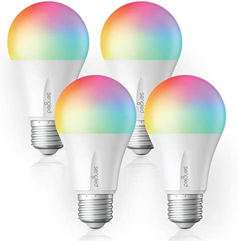 Sengled Smart Light Bulb, E26 LED Color Changing Light Bulb Works with Alexa, Google Assistant and IFTTT, Dimmable RGB Multicolor Smart Bulbs, Hub required, A19 60 Watt Equivalent, 800LM 4 Pack