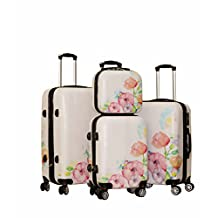 Zota 4 Piece Traveler Hardside Spinner Luggage Set With 28'' Cover