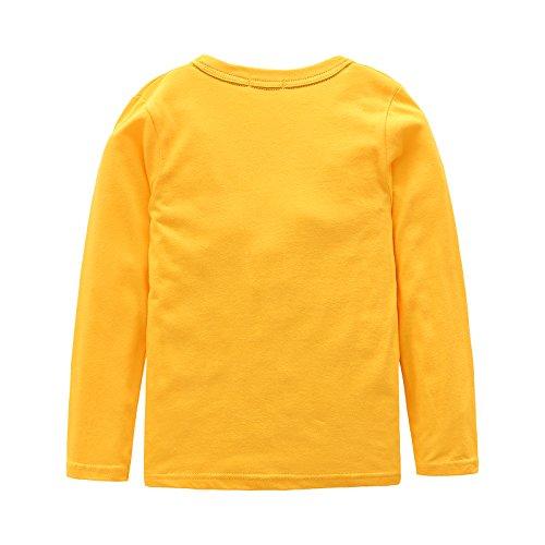Boys Cotton Long Sleeve T-Shirts T Rex Dinosaur Shirt Graphic Tees
