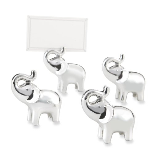 Silver Elephant Place Card Holders (Kate Aspen