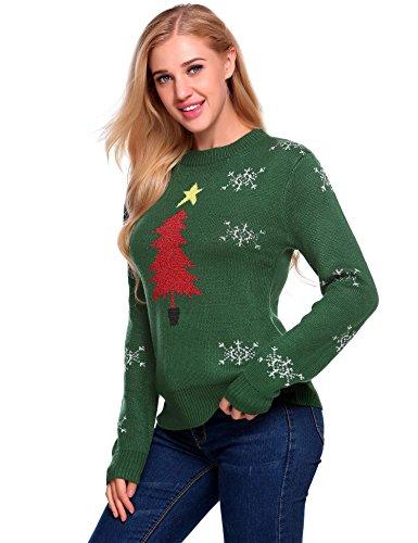 Automne Femme Santa de No 1 hiver Impression Vert Robe Meaneor Pull de l Cocktail Soiree Yang5PW