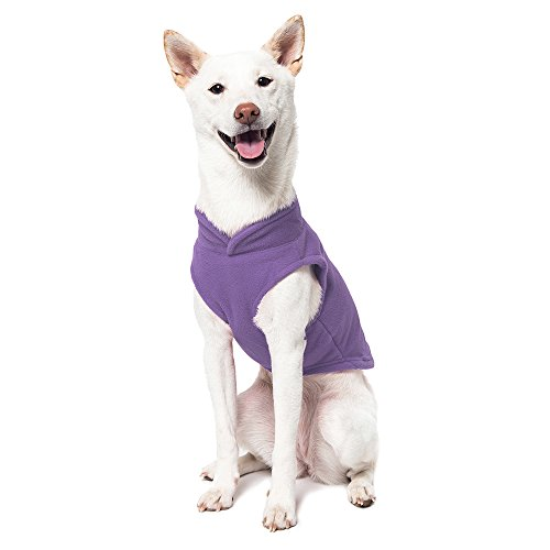 Image of Gooby - Fleece Vest, Small Dog Pullover Fleece Jacket with Leash Ring, Lavender, X-Small